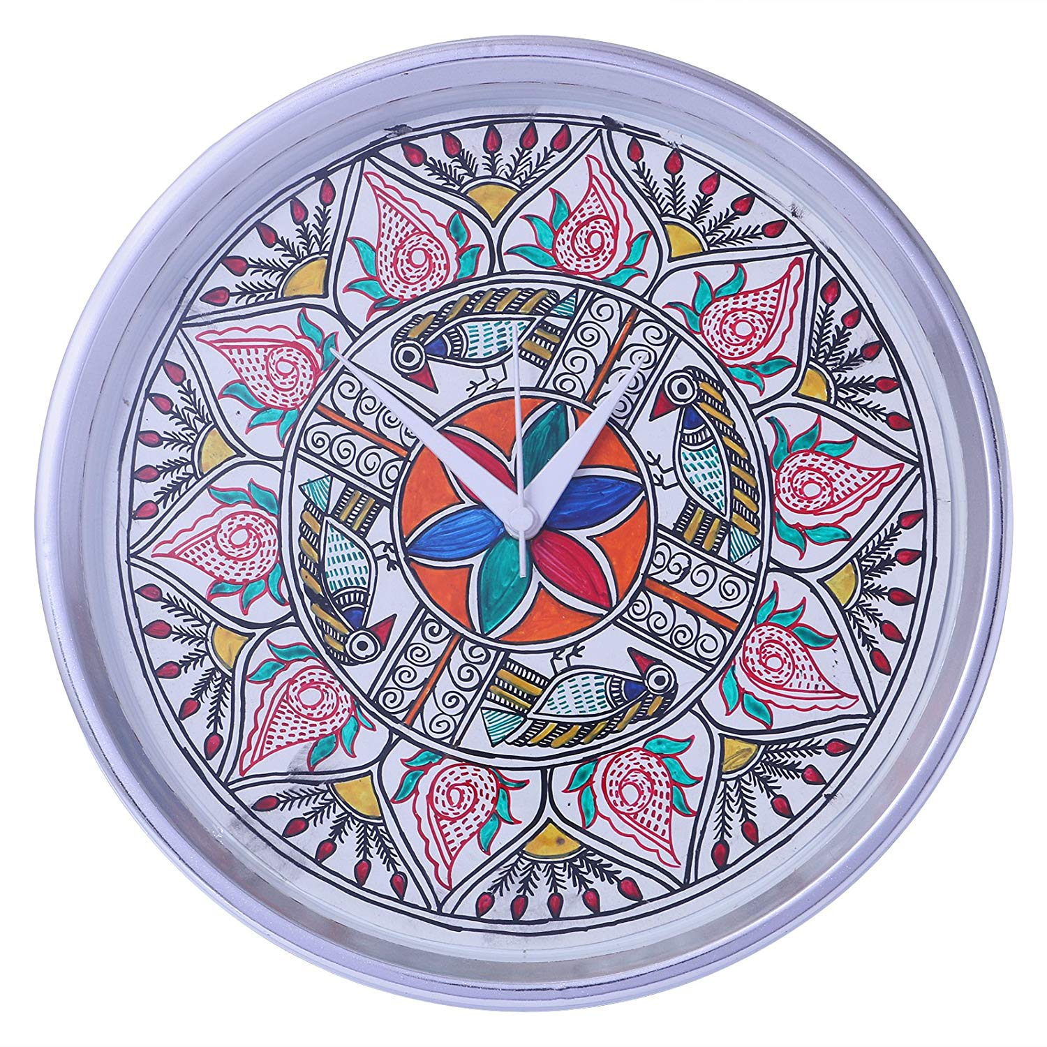 Hand Made Clock Mithla Painting